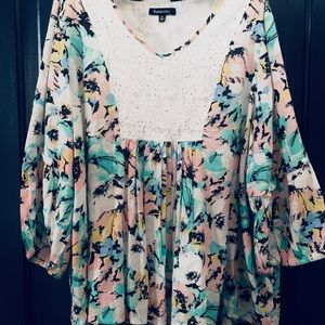 Relativity vintage inspired bohemian blouse/XL